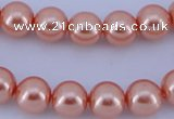 CGL292 10PCS 16 inches 4mm round dyed glass pearl beads wholesale
