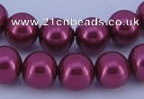 CGL317 5PCS 16 inches 14mm round dyed glass pearl beads wholesale