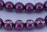 CGL341 2PCS 16 inches 25mm round dyed plastic pearl beads wholesale
