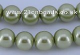 CGL367 5PCS 16 inches 14mm round dyed glass pearl beads wholesale