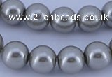 CGL378 5PCS 16 inches 16mm round dyed glass pearl beads wholesale
