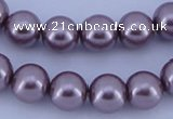 CGL386 5PCS 16 inches 12mm round dyed glass pearl beads wholesale