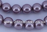 CGL388 5PCS 16 inches 16mm round dyed glass pearl beads wholesale