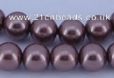 CGL398 5PCS 16 inches 16mm round dyed glass pearl beads wholesale