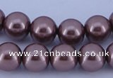 CGL399 5PCS 16 inches 18mm round dyed plastic pearl beads wholesale