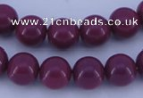 CGL879 10PCS 16 inches 6mm round heated glass pearl beads wholesale