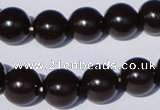 CGL899 5PCS 16 inches 10mm round heated glass pearl beads wholesale