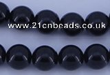CGL904 10PCS 16 inches 8mm round heated glass pearl beads wholesale