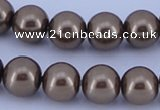 CGL98 5PCS 16 inches 16mm round dyed glass pearl beads wholesale