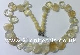 CGN430 20 inches freeform citrine gemstone beaded necklaces