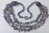 CGN671 22 inches stylish amethyst beaded necklaces wholesale