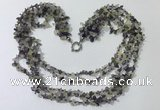 CGN741 19.5 inches stylish 5 rows fluorite chips necklaces