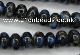 CGO182 15.5 inches 8*12mm rondelle gold blue color stone beads