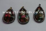 CGP1563 35*65mm - 40*55mm flat teardrop sea sediment jasper pendants