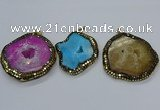 CGP3087 40*50mm - 50*65mm freeform druzy agate pendants