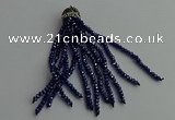 CGP428 2*3mm faceted rondelle handmade chinese crystal tassel pendants