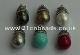 CGP464 15*25mm - 15*30mm teardrop pearl shell pendants wholesale
