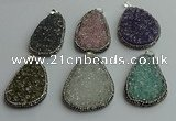 CGP578 30*45mm - 40*50mm freeform crystal glass pendants wholesale