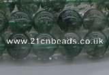 CGQ502 15.5 inches 8mm round imitation green phantom quartz beads