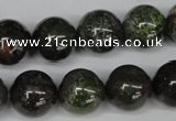 CGR43 15.5 inches 14mm round green rain forest stone beads wholesale