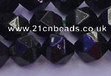CGS464 15.5 inches 12mm faceted nuggets green goldstone beads