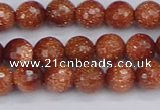 CGS471 15.5 inches 6mm faceted round goldstone beads wholesale