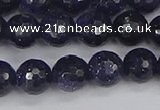 CGS480 15.5 inches 8mm faceted round blue goldstone beads