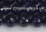 CGS482 15.5 inches 12mm faceted round blue goldstone beads