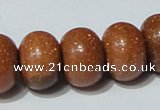 CGS66 15.5 inches 13*18mm rondelle goldstone beads wholesale