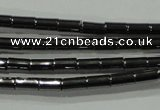 CHE120 15.5 inches 2*4mm tube hematite beads wholesale