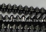 CHE235 15.5 inches 4*6mm star hematite beads wholesale
