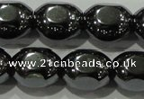 CHE247 15.5 inches 10*12mm lantern hematite beads wholesale