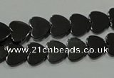 CHE269 15.5 inches 10*10mm heart hematite beads wholesale