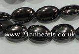 CHE276 15.5 inches 6*10mm oval hematite beads wholesale