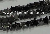 CHE292 15.5 inches 4mm star hematite beads wholesale