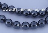 CHE32 16 inches 4mm faceted round hematite beads Wholesale
