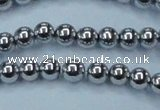 CHE425 15.5 inches 8mm round plated hematite beads wholesale