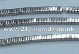 CHE558 15.5 inches 1*2*2mm square plated hematite beads wholesale