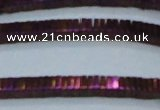 CHE583 15.5 inches 1*4*4mm square plated hematite beads wholesale