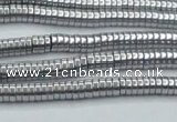 CHE640 15.5 inches 1*2mm tyre plated hematite beads wholesale