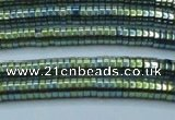 CHE645 15.5 inches 1*2mm tyre plated hematite beads wholesale