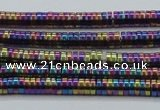 CHE647 15.5 inches 1*2mm tyre plated hematite beads wholesale