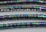 CHE656 15.5 inches 1*3mm tyre plated hematite beads wholesale