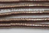 CHE663 15.5 inches 1*4mm tyre plated hematite beads wholesale