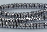CHE733 15.5 inches 3*6mm faceted rondelle plated hematite beads