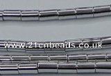 CHE748 15.5 inches 3*5mm tube plated hematite beads wholesale