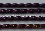 CHE797 15.5 inches 3*5mm rice plated hematite beads wholesale