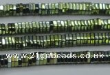 CHE828 15.5 inches 1*2mm hexagon plated hematite beads wholesale