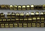 CHE856 15.5 inches 2*2mm dice platedhematite beads wholesale