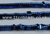 CHE924 15.5 inches 1*3mm triangle plated hematite beads wholesale